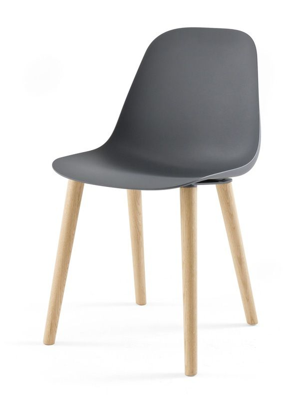 Pola Lc Design Chair In Wood And Polyurethane For Dining Room