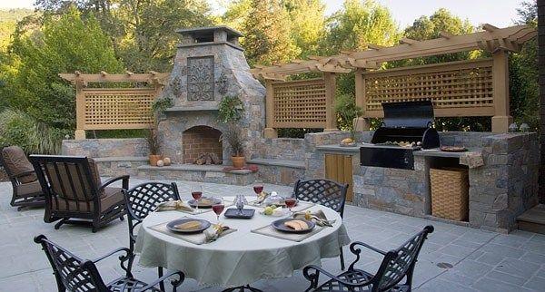 Luxury Outdoor Kitchen Outdoor Kitchen Michelle Derviss Landscape Impressive Outdoor Kitchen Pictures Design Ideas Design Decoration