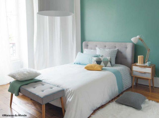 Mur vert maisons du monde | papier peint 1 | Pinterest | Mur vert ...