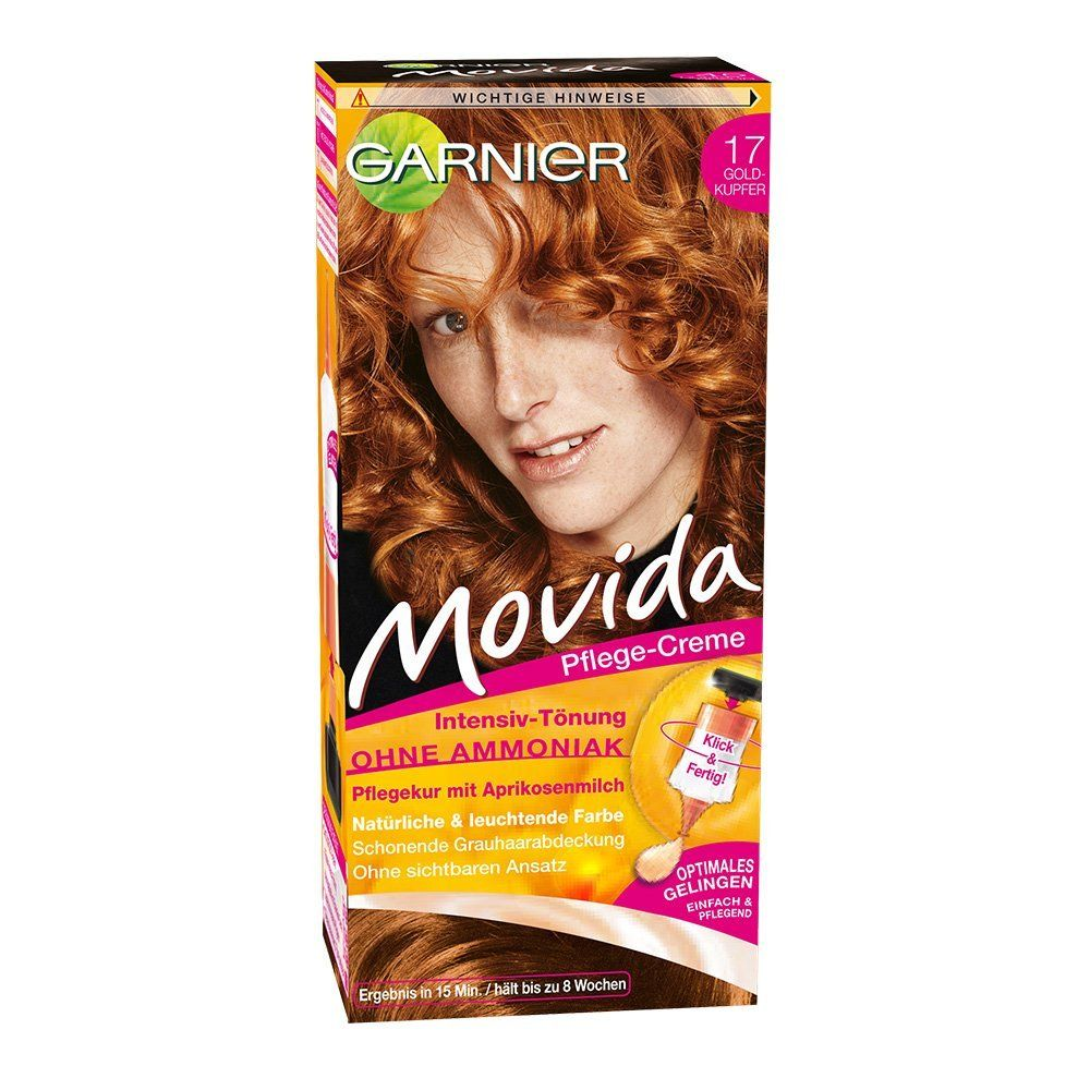 garnier movida haarfarbe intensiv t nung 17 goldkupfer 3er pack 3 x 1 colorationsset amazon. Black Bedroom Furniture Sets. Home Design Ideas