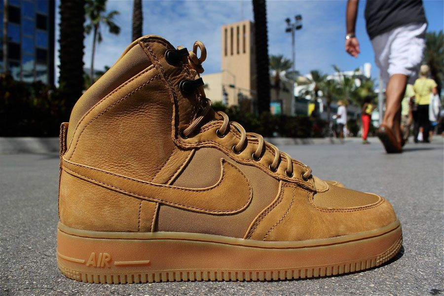 Nike Air Force 1 Bottes Marron