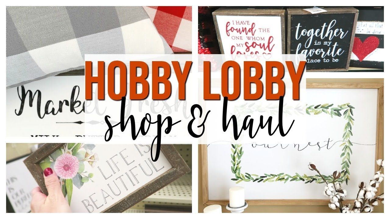 Spring Hobby Lobby Shop With Me Haul 2019 New Home