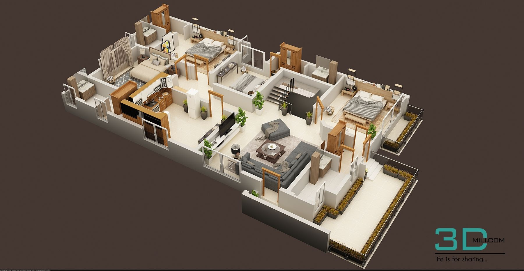 147 Modern House Plan Designs Free Download One Bedroom House Small House Plans Small Apartment Plans