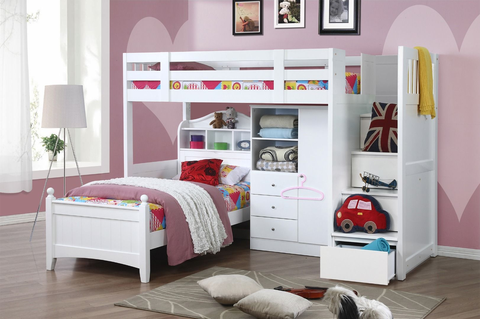 Neutron High Sleeper With Stair Storage Kids bunk beds