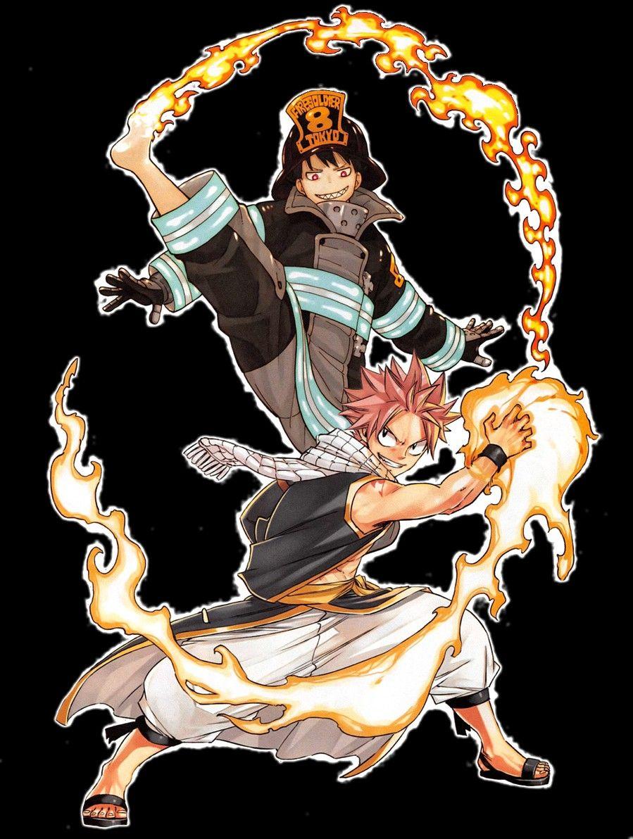 Illustration Des Maitres Shinra Fire Force Et Natsu