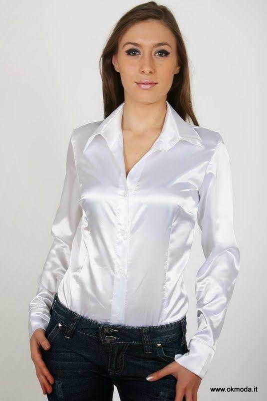 Pin von JvS auf satin und Blusen   Satin shirt, Satin ...