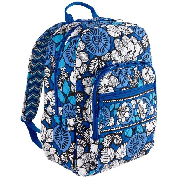 Vera Bradley Campus Backpack in Blue Bayou ( 93) ❤ liked on Polyvore  featuring bags 5b698137c0