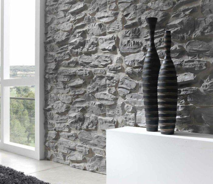 wandpaneele steinoptik stellen eine schicke möglichkeit zur