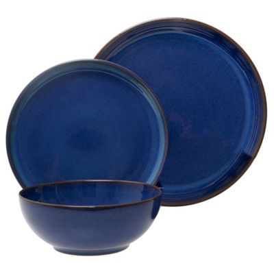 Denby Glazed \u0027Imperial Blue\u0027 12 piece dinnerware set  sc 1 st  Pinterest & Denby Denby \u0027Imperial Blue\u0027 12 piece dinner set from Debenhams ...