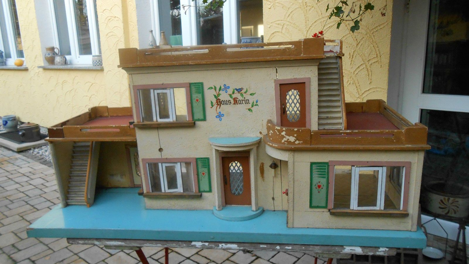 altes origin fr hes albin sch nherr ddr puppenhaus haus karin von 1955 in antiquit ten kunst. Black Bedroom Furniture Sets. Home Design Ideas