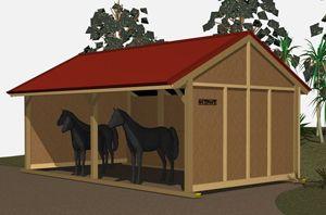 Simple Horse Shelter Plans | Settler Horse Stables | Outpost Buildings