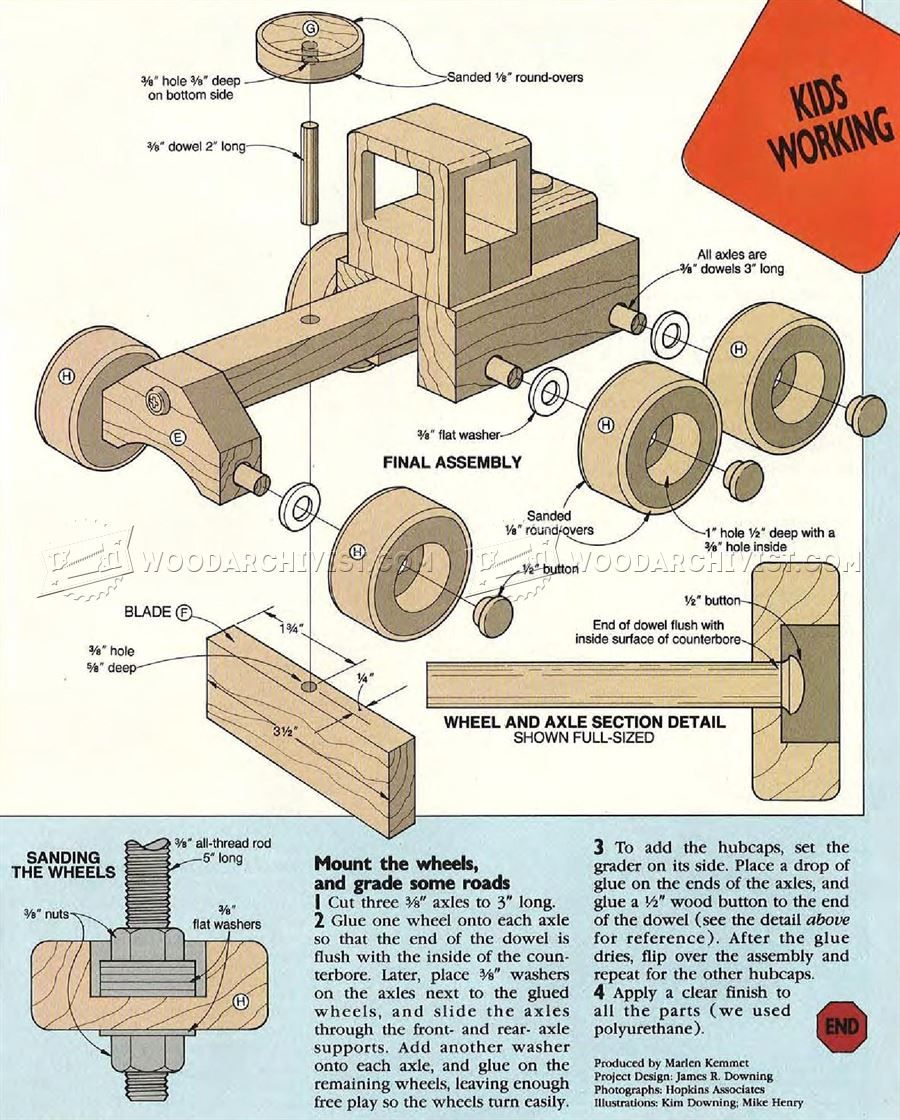 349 road grader - wooden toy plans - wooden toy plans | toys