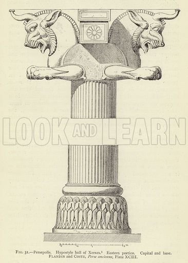 Persepolis Hypostyle Hall Of Xerxes Eastern Portico Capital And Base Ancient Persian Architecture Persian Architecture Ancient Persia