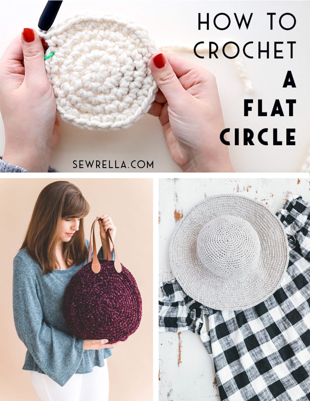 How To Crochet A Flat Circle Free Pattern And Video Tutorial Crochet Circles Crochet Square Patterns Crochet Rug Patterns