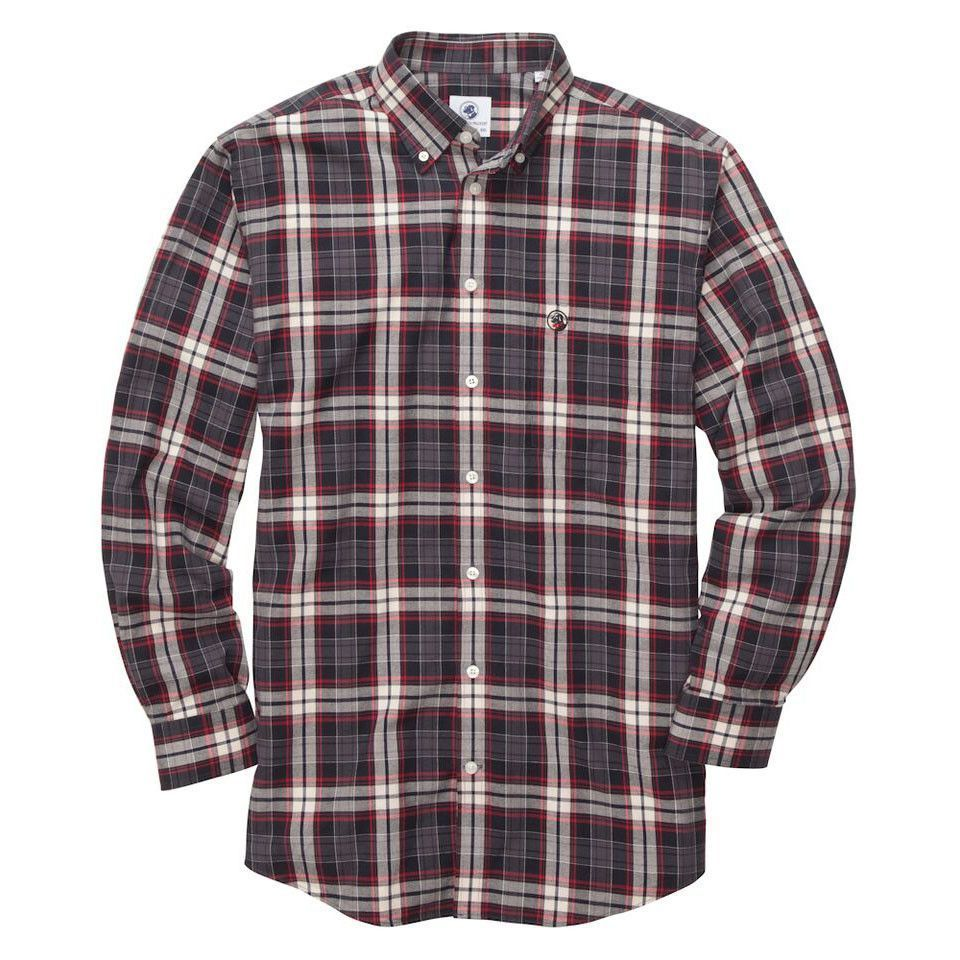 Biglane Southern Shirt in Charcoal Plaid by Southern Proper