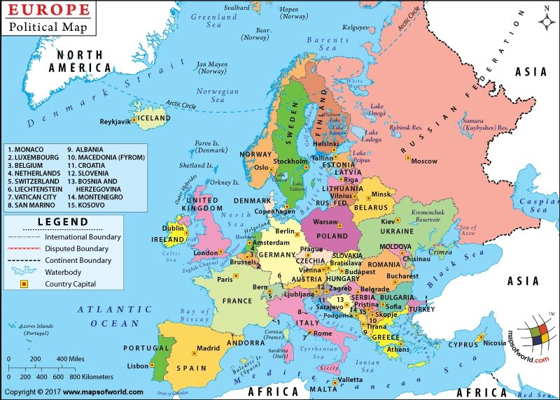 Europe Map Countries And Capitals europe map europe map ...