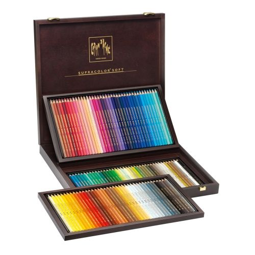 Coffret Bois 120 Crayons De Couleurs Supracolor Caran D Ache