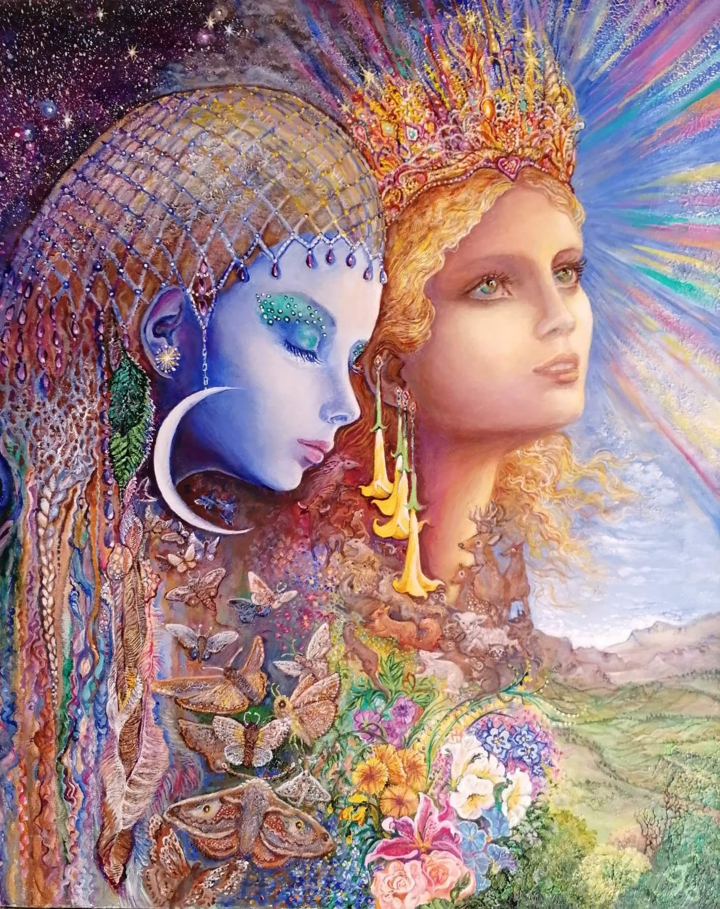 Josephine Wall Night And Day Josephine Wall Art Fantasy Art
