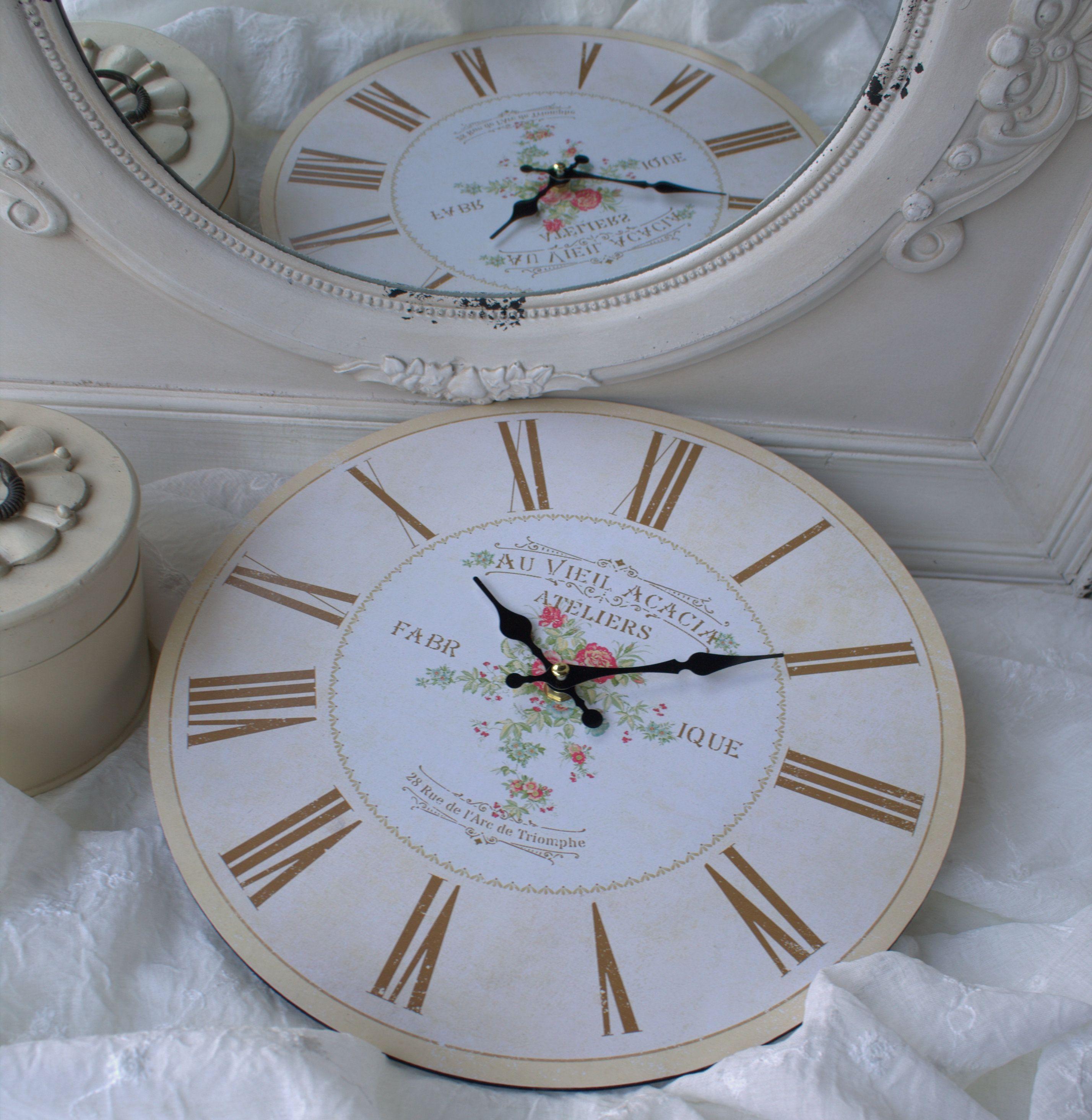 Wanduhr Acacia Uhr 34 Cm K Chenuhr Uhren Dekoration Zauberhafter Landhausstil Dekoration Kommode Dekoration Kommode Flur Dekoration Essz Wall Clock Decor Clock