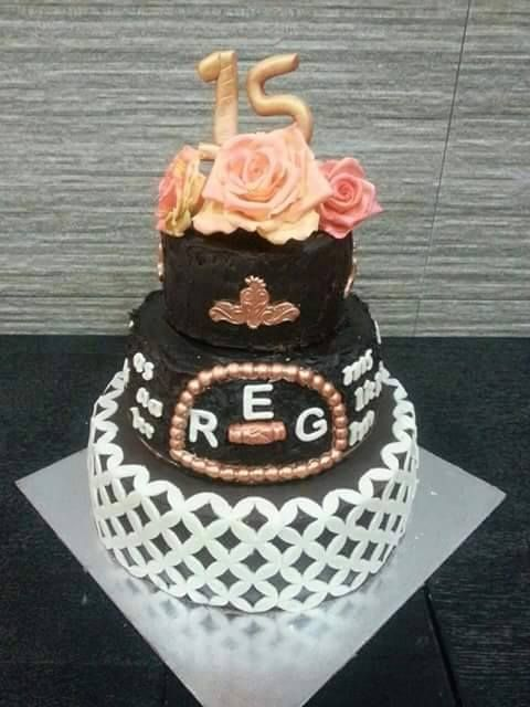 eggless 1st 3 tier cake  with fav. flavours