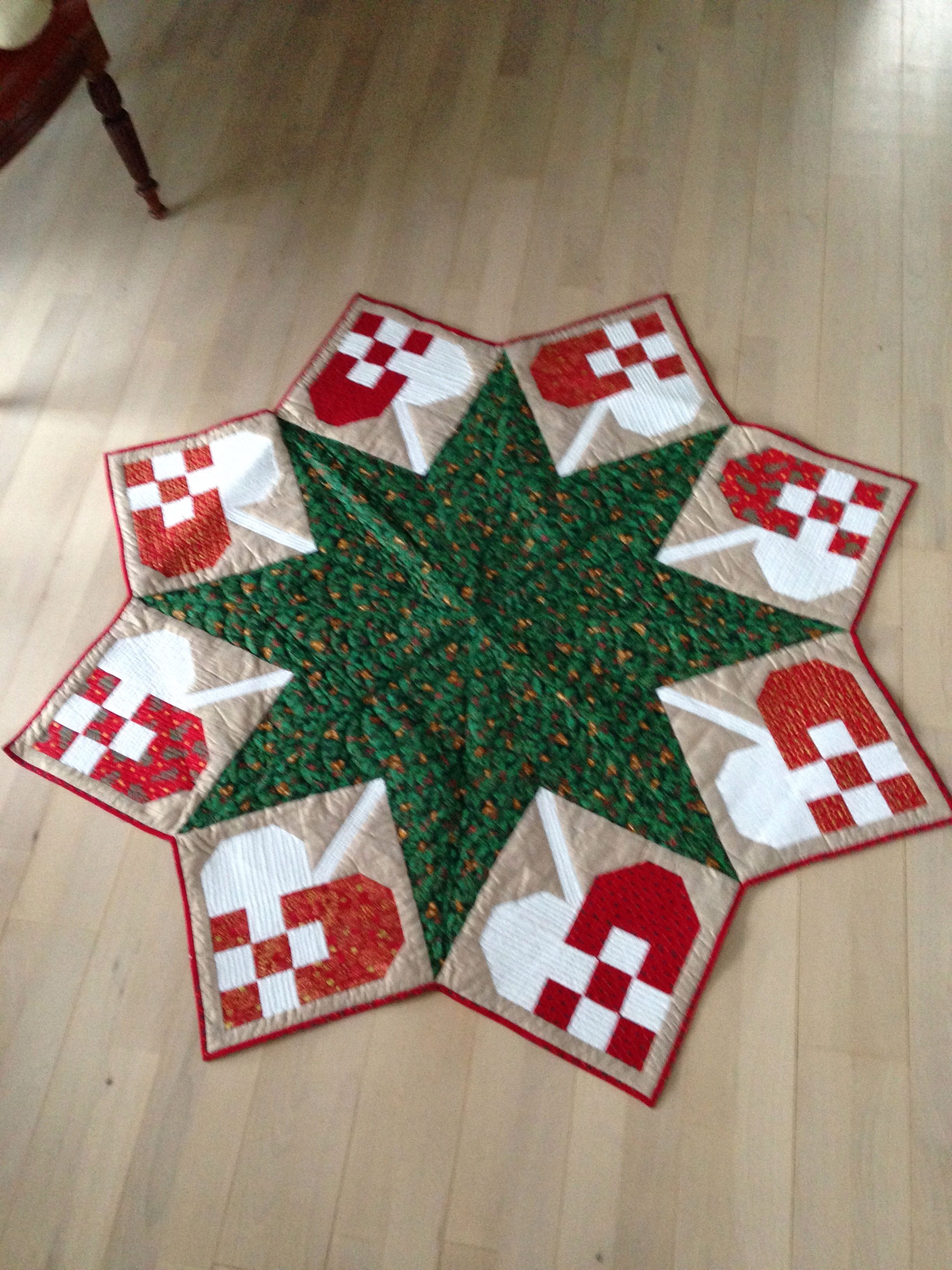 My Christmas tree skirt. … Christmas tree skirts