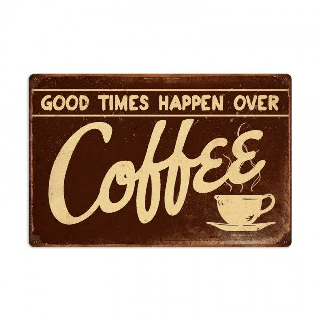 Coffee retro planet advertising metal sign vintage style home decor wall art free shipping
