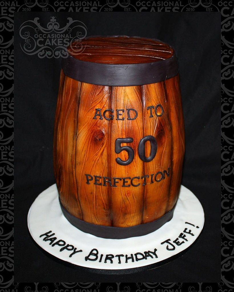 Whiskey Barrel Birthday Cake Barrelcake 50thbirthday