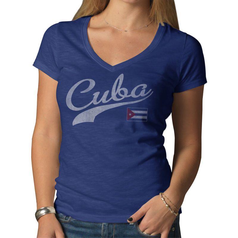 Cuba '47 Women's Country Scrum T-Shirt - Royal