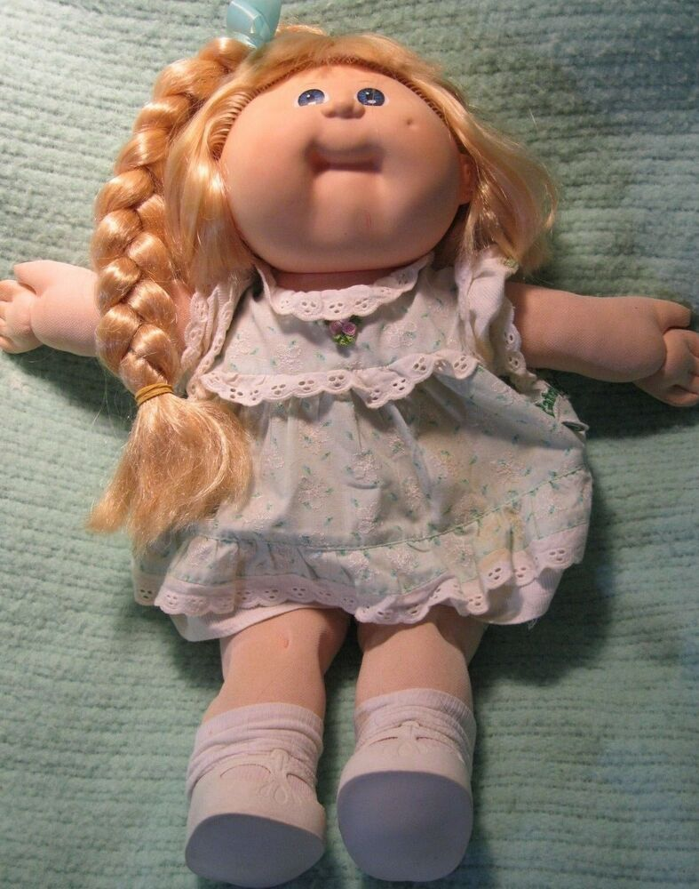 15 Vintage 1987 Talking Cabbage Patch Kid Doll Girl Cpk Dolly Toy Golden Blond Ebay Cabbage Patch Kids Cabbage Patch Kids Dolls Patch Kids