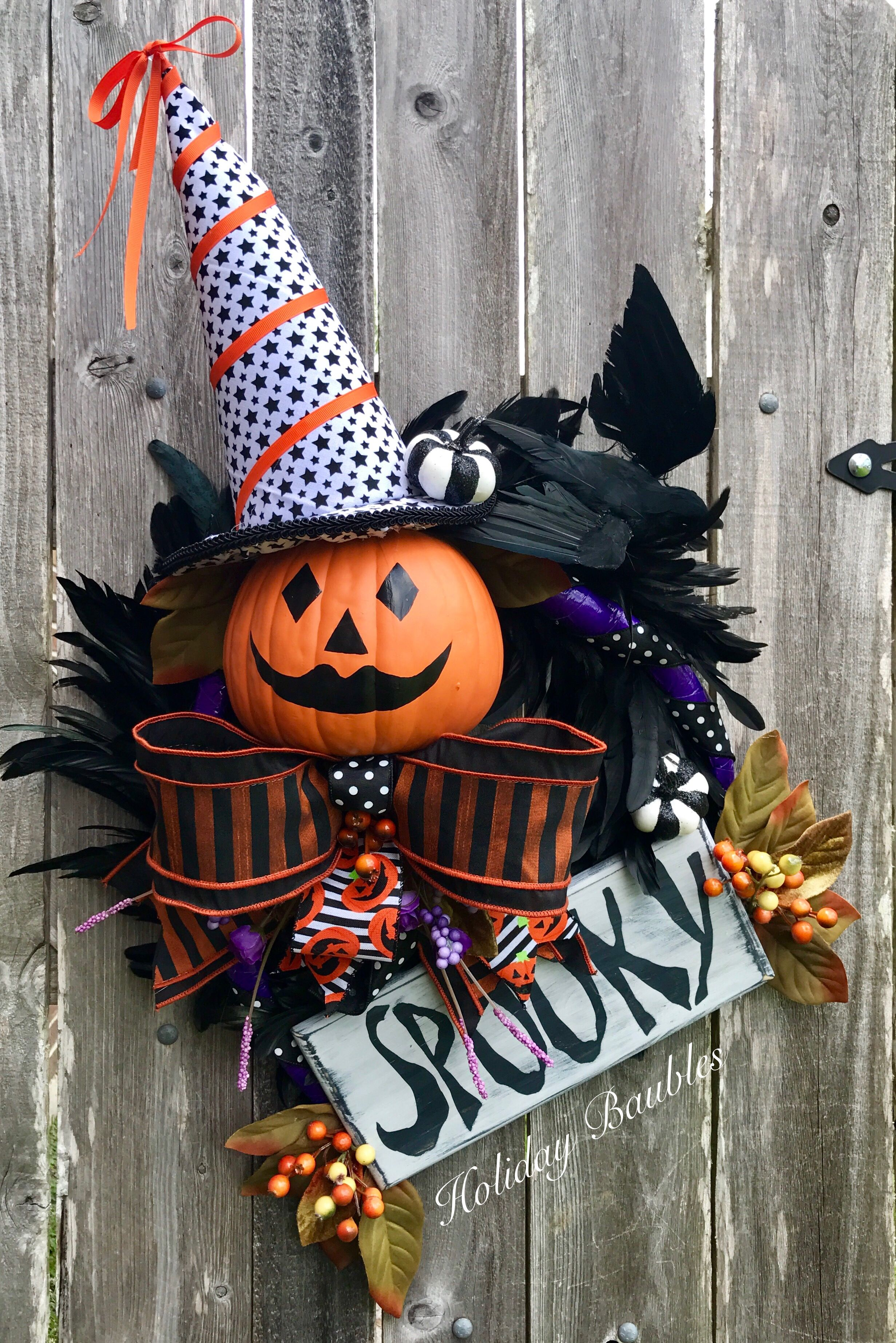 Halloween Jack O Lantern SPOOKY by Holiday Baubles | Fall Fun ...