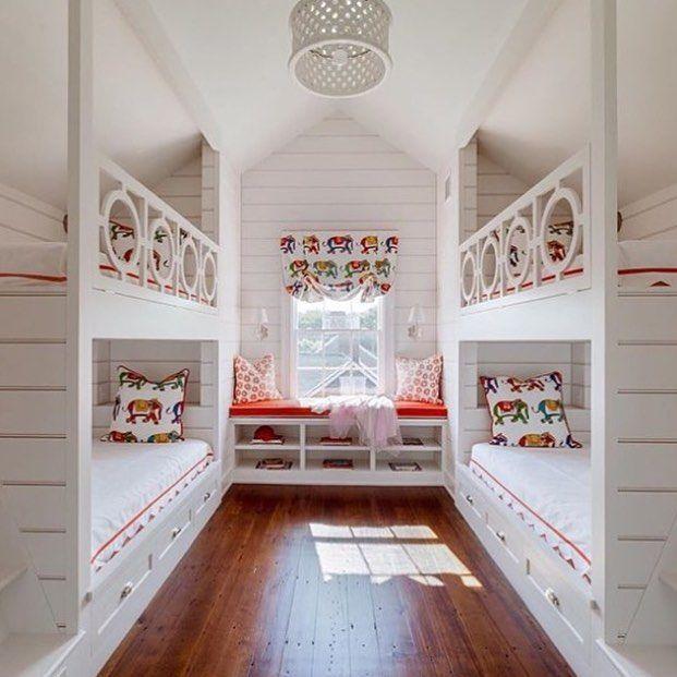 On instagram by inspired_things #homedesign #contratahotel (o) http://ift.tt/1WoK2ef them up!} dreamy bedroom design via @coastalinteriors  #decorating #homedecor #bedroomdecor #kidsbedroom #bunkbeds #bunkbuddies #cousinsbedroom #beachhouse #weekend #quartodecriança #quartodeprimo #casadepraia #beliche #loveyourhome #homeluxuries #interiordesign #architecture  #HomeIsWhereTheHeartIs #homeideas #homeinspiration #InspiredThings