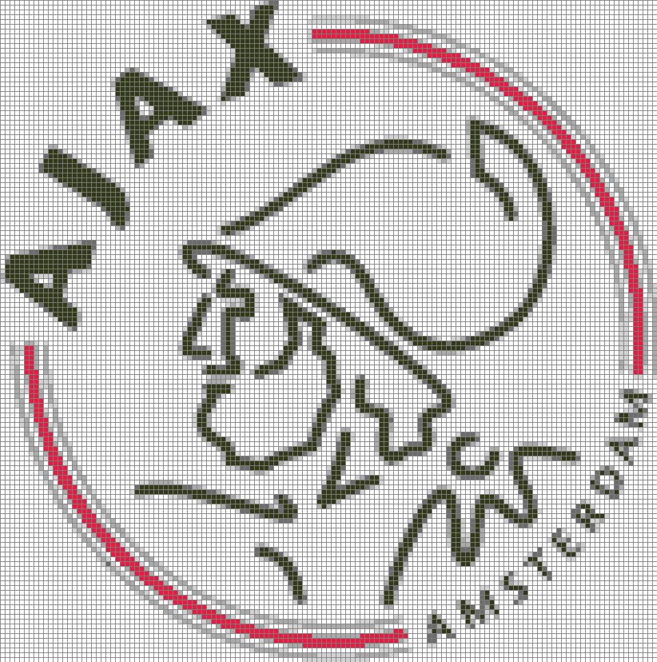 Ajax Logo 6 Colors Cross Stitch Pattern Patronen Borduren Voetbal Deken