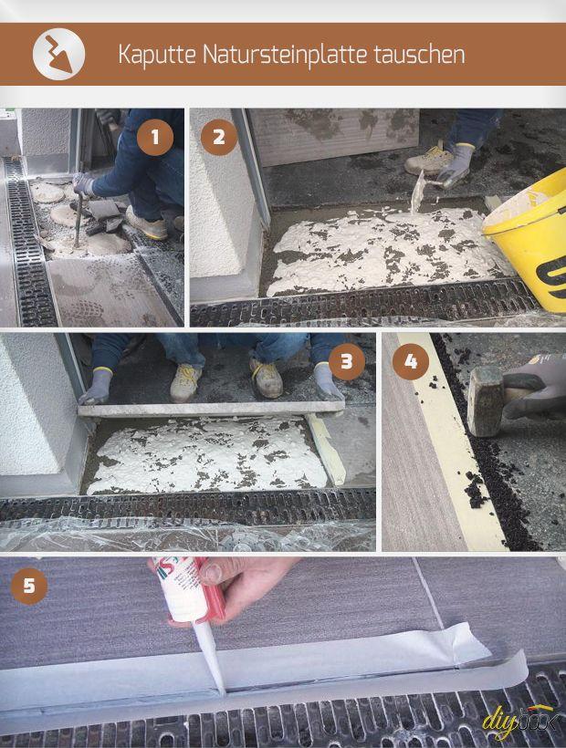 Natursteinplatte Tauschen Anleitung Diybook Gebaude Sanierung Wand Verputzen Renovieren