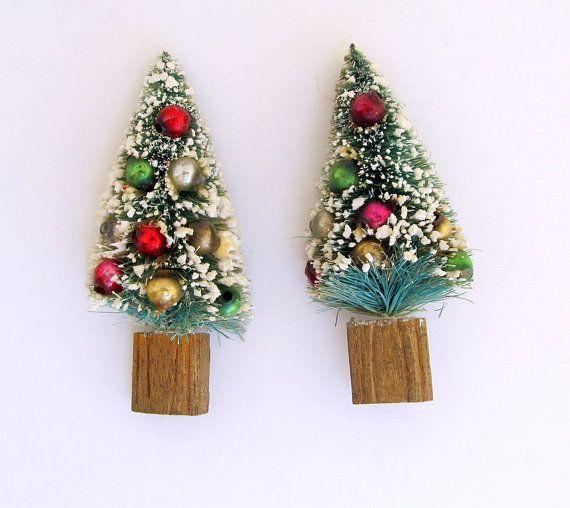 Small Bottlebrush Christmas Trees Green Christmas Decoration Package