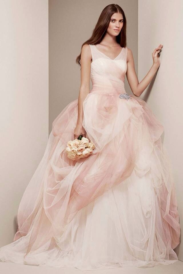Blush Wedding Dresses With Classic Looks Ombre DressVera Wang