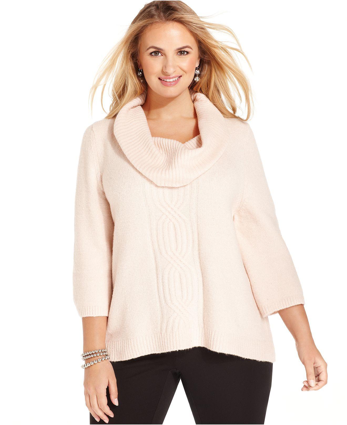 macys plus size sweaters - Siteze
