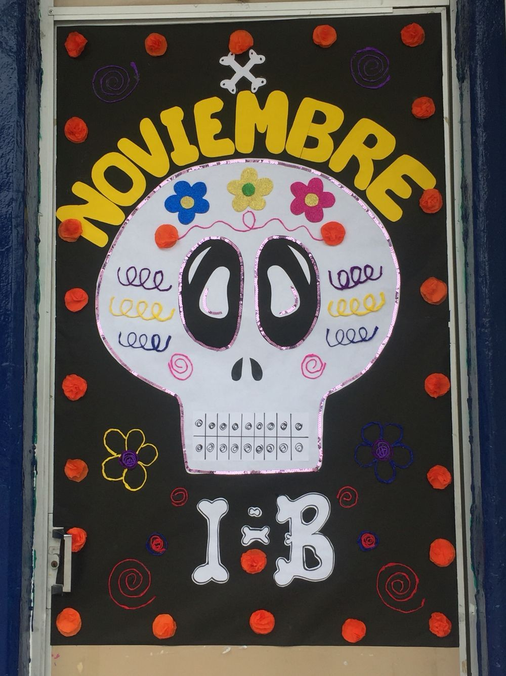 Puerta Decorada Día De Muertos Decoraciones Escolares