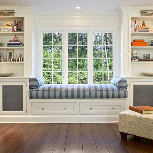 30 Inspirational Ideas For Cozy Window Seat Living Room