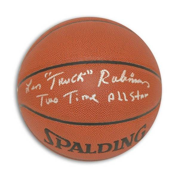 """Leonard """"""""Truck"""""""" Robinson Autographed Indoor/Outdoor Basketball Inscribed """"""""Truck"""""""" & """"""""Two Time All Star"""""""""""