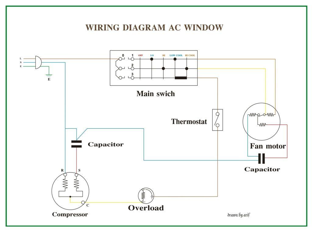 Wiring Diagram Ac Window In 2021, Fan Relay Wiring Diagram Hvac