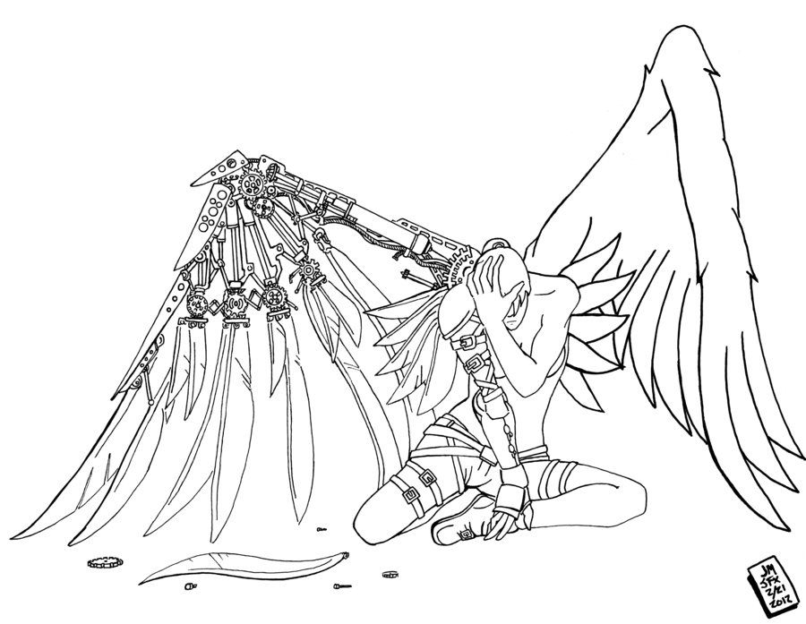 coloring pages of fallen angels - photo#10