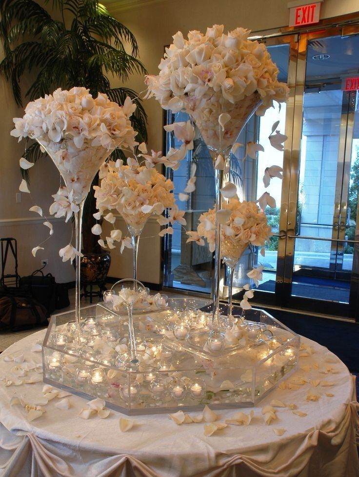 Martini Glass Vase 16 20 23 Wedding Centerpiece Tall Giant Jumbo