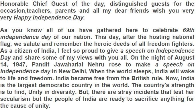 image result for principal speech on independence day in