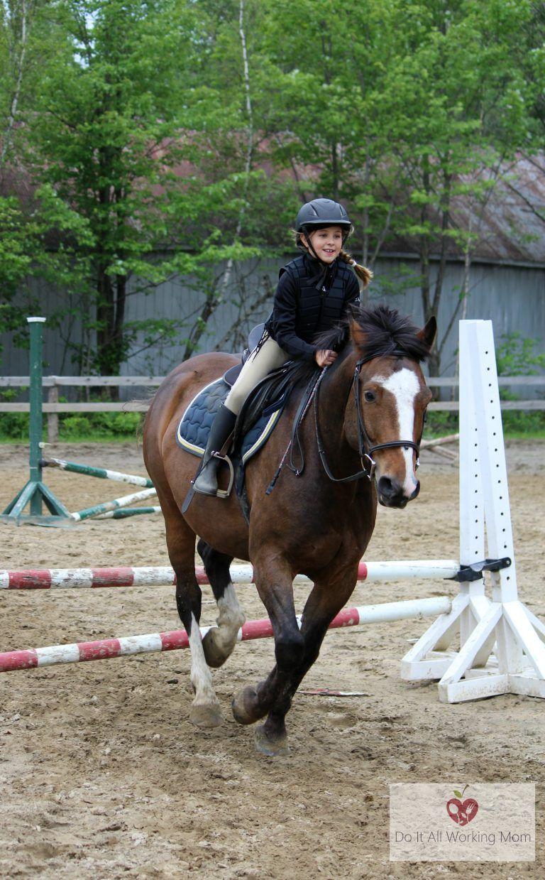 Benefits of horseback riding for kids riding horseback
