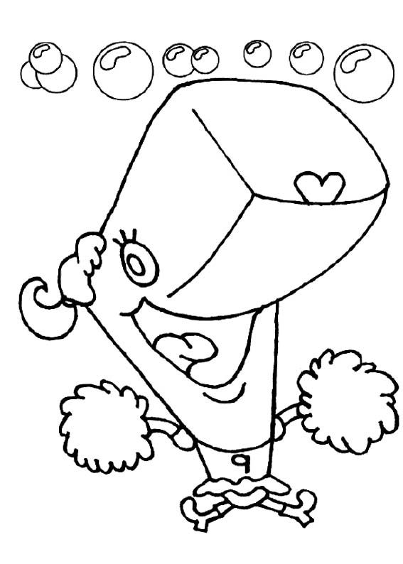 Pearl Coloring Page Coloring Pages Spongebob Coloring Color