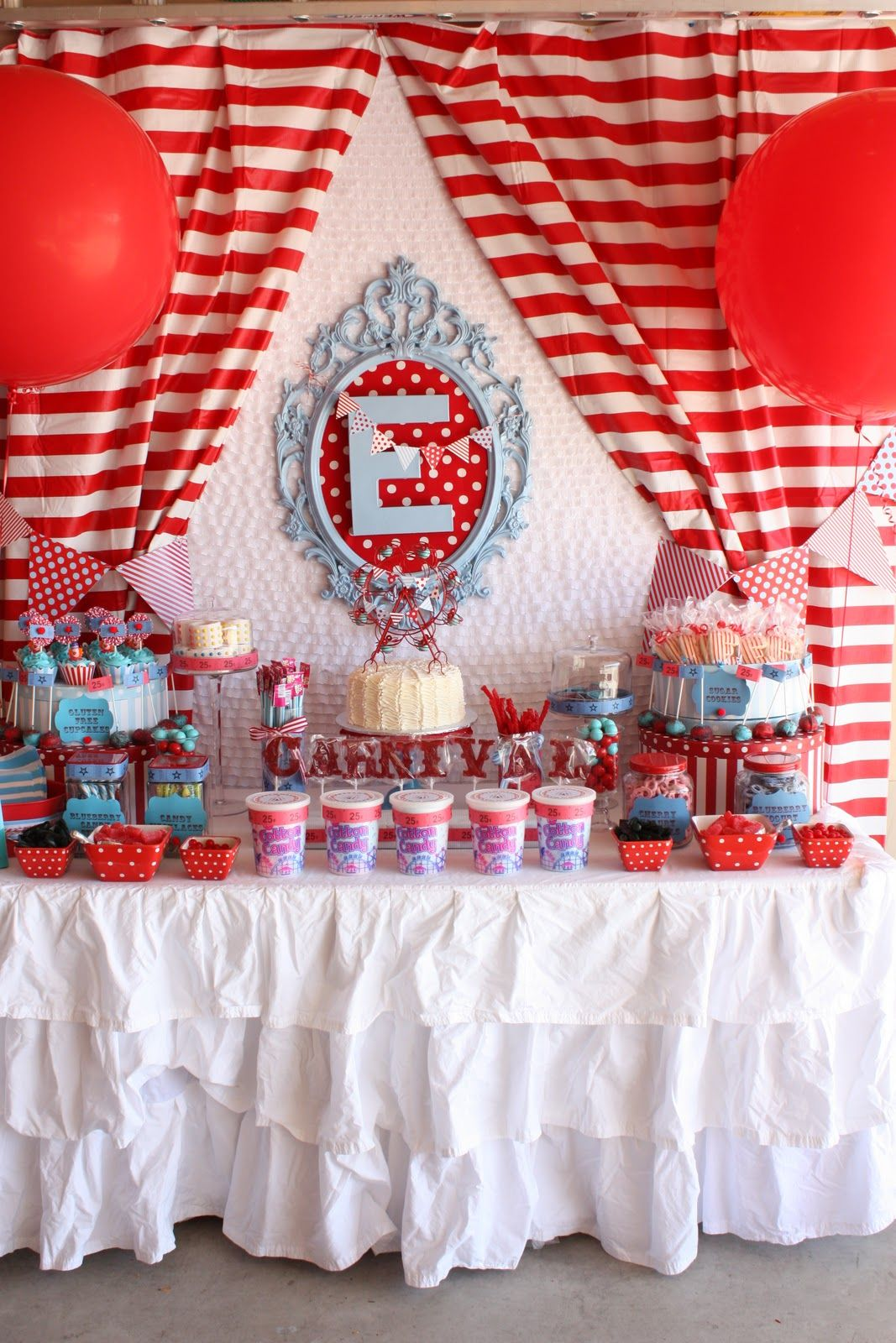 carnival theme candy & cake station