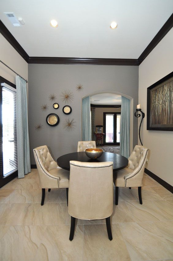 The Walls In Breakfast Room Are Sherwin Williams Proper Gray And Give E Depth Silk Taffeta D Complement Soften Wall Color