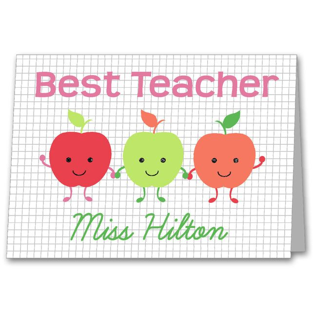 Personalised Teacher Thank you Card. £2.75
