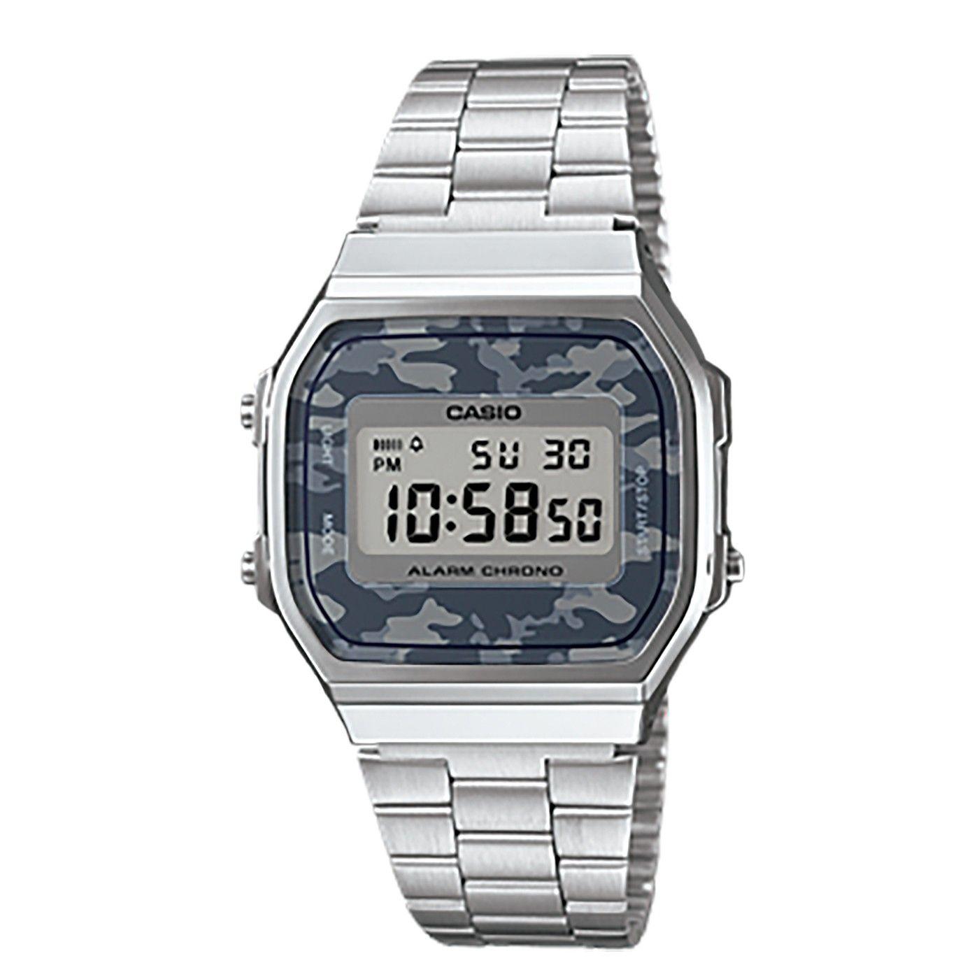 25b3b9aa6f07 Casio A168WEC-1EF Watch in Chrome   Camo