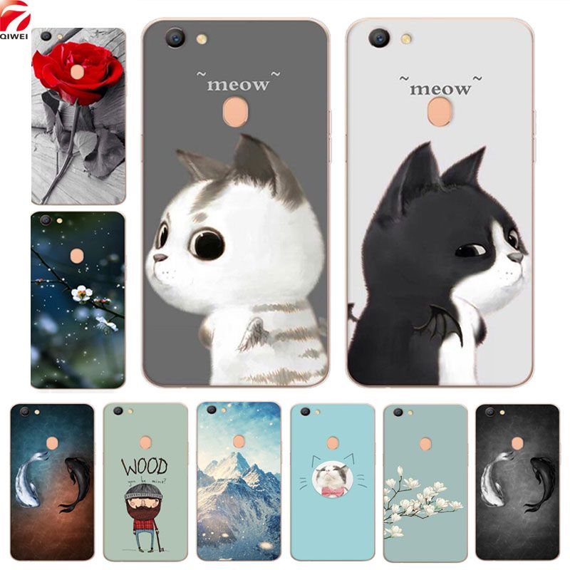 cf34eae1ac For OPPO F5 Case Cute Painted Soft TPU Back Cover For OPPO F5 F 5 Silicone